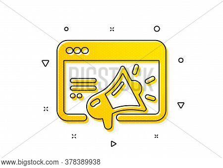 Web Targeting Sign. Seo Marketing Icon. Traffic Management Symbol. Yellow Circles Pattern. Classic S