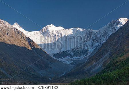 Mount Beluha At Sunset. Altai Mountain. Gorizontal