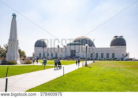 Los Angeles, California - October 09 2019: Griffith Observatory In Los Angeles City, California, Fam