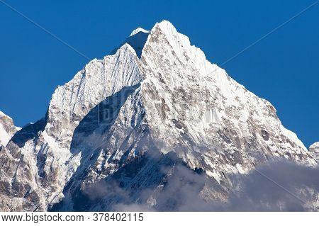 View Of Mount Thamserku, Khumbu Valley, Solukhumbu, Nepal Himalayas Mountains