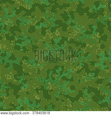 Brown Seamless Point Camouflage, Graphic Camouflage.  Repeated Vector Green Abstract, Camo Wallpaper
