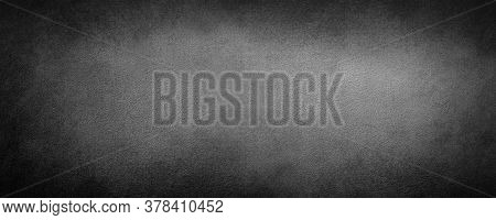 Abstract Dark Black Color Background With Scratched,  Modern Background Concrete With Rough Texture,