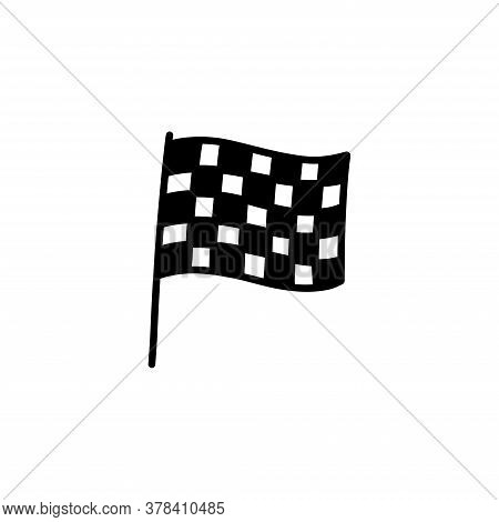 Finish Flag Doodle Icon, Vector Hand Draw Illustration