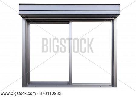 Aluminium Window Frame Isolated On White Background