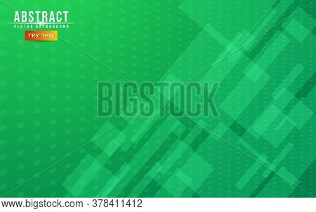 Abstract Geometry Green Background. Modern Abstract Geometry Background. Graphic Design Element