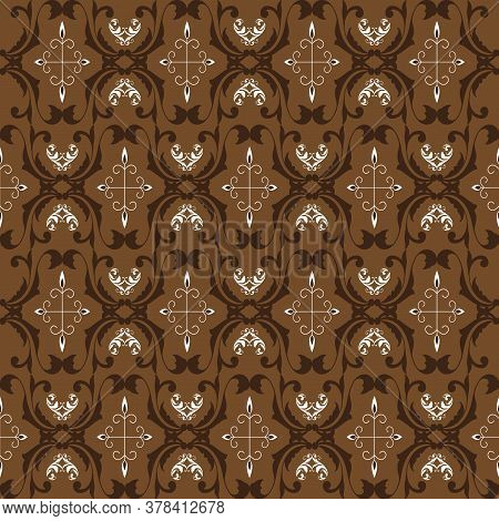 Unique Pattern For Traditional Batik Clothes With Brown Color Design.