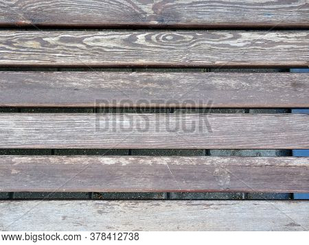 Background Of Shabby, Old, Wooden With A Pattern Of Wood Boards