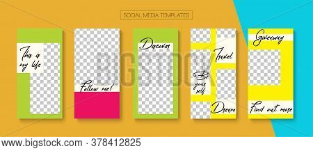 Social Stories Cool Vector Layout. Online Shop Luxury Invitation Phone. Blogger Simple Concept, Soci