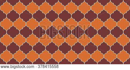 Ottoman Mosque Window Motif. Moroccan Seamless Mosaic Texture. Eid Mubarak Islam Decoration. Ramadan