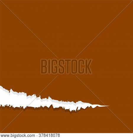 Paper Brown With Tear Marks For Banner Copy Space, Paper Rip Torn Brown For Background, Paper With E