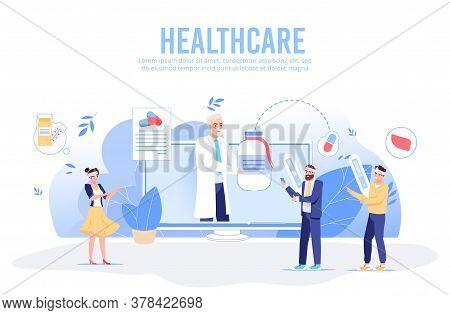 Online Medical Support Assistance. Digital Healthcare Diagnostics Service. Smart Telemedicine. Virtu