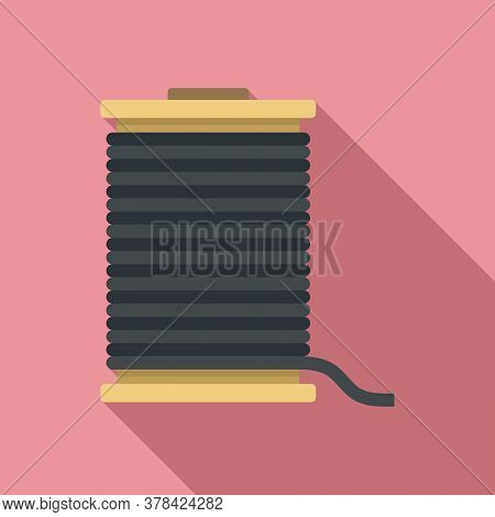 Contruction Wire Coil Icon. Flat Illustration Of Contruction Wire Coil Vector Icon For Web Design