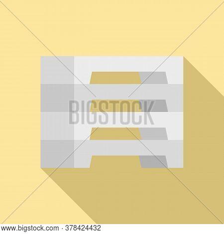 Concrete Blocks Icon. Flat Illustration Of Concrete Blocks Vector Icon For Web Design