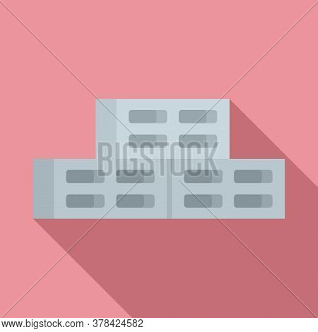 Cement Block Icon. Flat Illustration Of Cement Block Vector Icon For Web Design