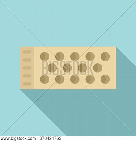 Brick Cement Icon. Flat Illustration Of Brick Cement Vector Icon For Web Design