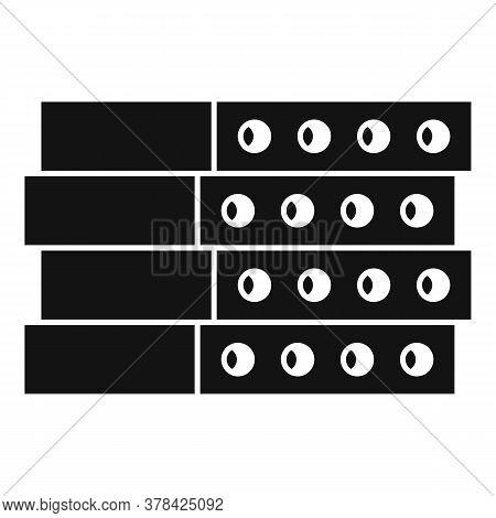 Construction Concrete Block Icon. Simple Illustration Of Construction Concrete Block Vector Icon For