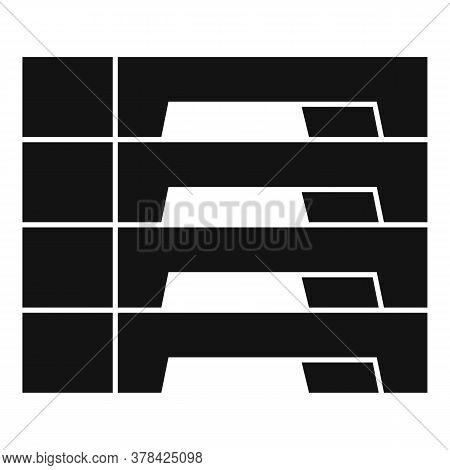 Concrete Blocks Icon. Simple Illustration Of Concrete Blocks Vector Icon For Web Design Isolated On