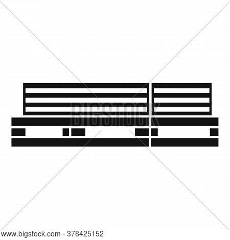 Wood Planks Pallet Icon. Simple Illustration Of Wood Planks Pallet Vector Icon For Web Design Isolat