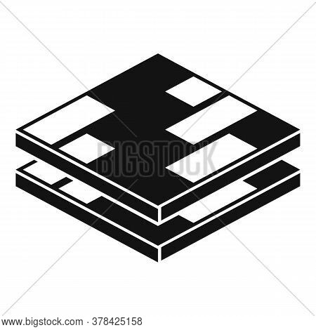 Wood Floor Tiles Icon. Simple Illustration Of Wood Floor Tiles Vector Icon For Web Design Isolated O