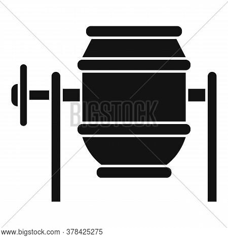 Concrete Mixer Icon. Simple Illustration Of Concrete Mixer Vector Icon For Web Design Isolated On Wh