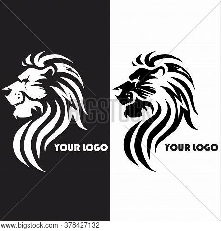 The Logo Of The Lion Symbolizes The Might Of Greatness To Symbolize A Strong Community