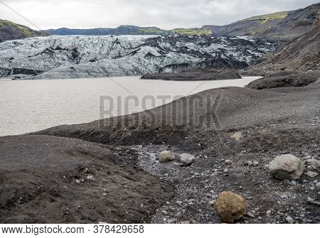 Landscape In The Vicinity Of Svinafellsjokull Glacier, Part Of Vatnajokull Glacier. Skaftafell Natio