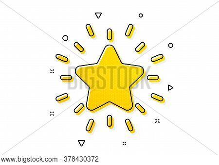 Success Reward Symbol. Rank Star Icon. Best Result Sign. Yellow Circles Pattern. Classic Rank Star I