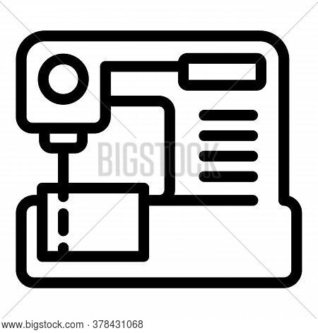 Home Sewing Machine Icon. Outline Home Sewing Machine Vector Icon For Web Design Isolated On White B