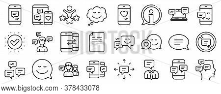 Group Chat, Conversation And Speech Bubbles Icons. Message Sms And Communication Icons. Sms Communic
