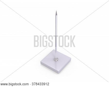 Fork Stick And Paper Memo Spike Holder, Restaurant Receipt Holder, Stainless Steel Check Spindle Wit