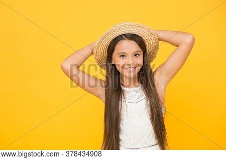 Enjoying Hot Day. Little Child Ready For Beach Activity. Happy Childhood. Joyful Summer Holiday And