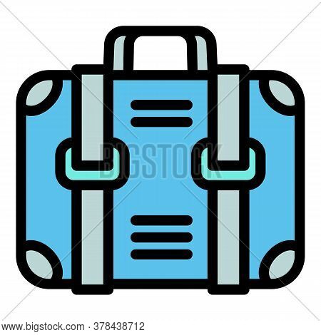 Ski Resort Travel Bag Icon. Outline Ski Resort Travel Bag Vector Icon For Web Design Isolated On Whi