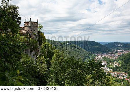 Lichtenstein Castle Towering Above Echaz Valley In Germany