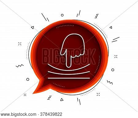 Elastic Line Icon. Chat Bubble With Shadow. Resilience Material Sign. Thin Line Elastic Icon. Vector