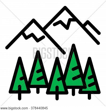 Ski Resort Camp Icon. Outline Ski Resort Camp Vector Icon For Web Design Isolated On White Backgroun