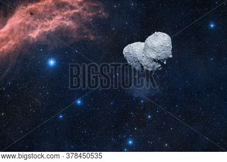 Asteroid. Science Fiction Cosmos. Elements Of This Image Furnished By Nasa