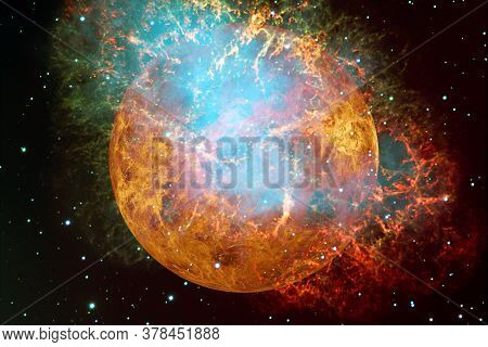 Planet Venus. Solar System. Elements Of This Image Furnished By Nasa