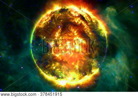 Sun. Solar System. Elements Of This Image Furnished By Nasa