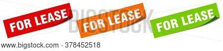 For Lease Sticker. For Lease Square Isolated Sign. For Lease Label