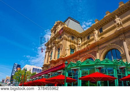 Las Vegas, United States Of America - May 05, 2016: A View Of Paris Hotel At Las Vegas Strip On May