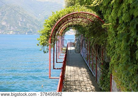The Scenic Path Walk Of Lovers In Varenna, Lake Como, Italy