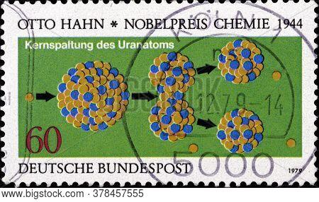 02 09 2020 Divnoe Stavropol Territory Russia The German Postage Stamp 1979 Nobel Prize Winners Otto