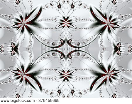 Flower Fractal Pattern. You Can Use It For Invitations, Notebook Covers, Phone Cases, Postcards, Car