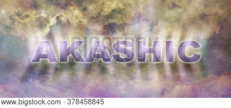 Akashic Records Celestial Background  - Heavenly Multicoloured Celestial Sky  Background With Graphi