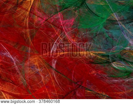 Red Abstract Fractal Background 3D Rendering Illustration