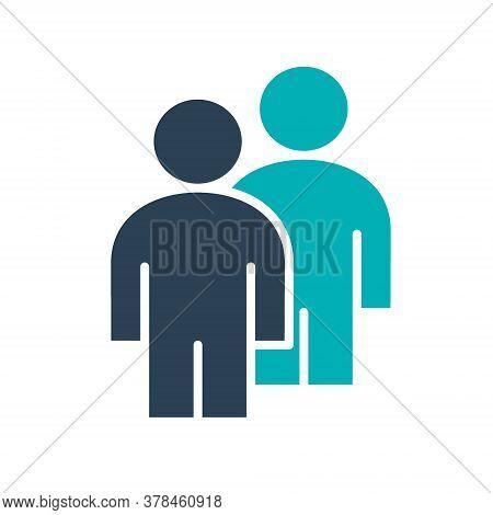 Two User Profile Colored Icon. Couple, Mates Symbol