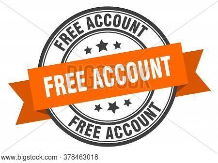 Free Account Label. Free Accountround Band Sign. Free Account Stamp