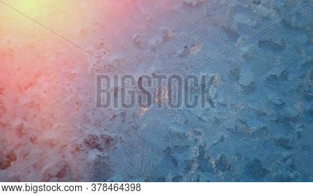 Picture Of Frost On The Glass.