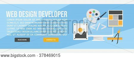 Web Design And Development Web Banner Template