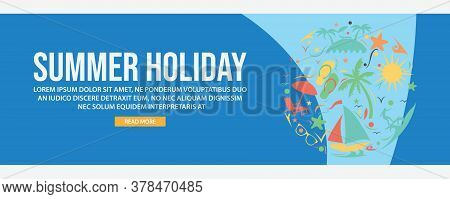 Summer Holiday Web Banner Template